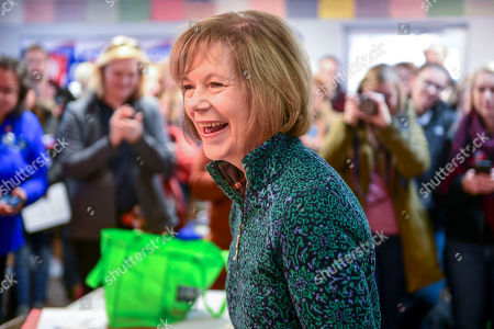 Democrat Sen. Tina Smith, who is campaigning for the US Senate, talks with campaign volunteers in Burnsville, Minnesota, USA, 03 November 2018. Smith is challenging Republican Karin Housley for the Senate seat formerly held by Al Franken the 06 November midterm elections.