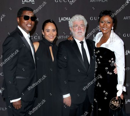 Kenneth Babyface Edmonds, Nicole Pantenburg, George Lucas and Mellody Hobson