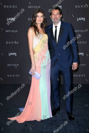 Stock Image of Michelle Alves and Guy Oseary