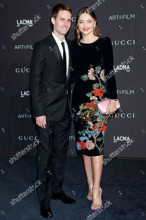 Evan Spiegel and Miranda Kerr