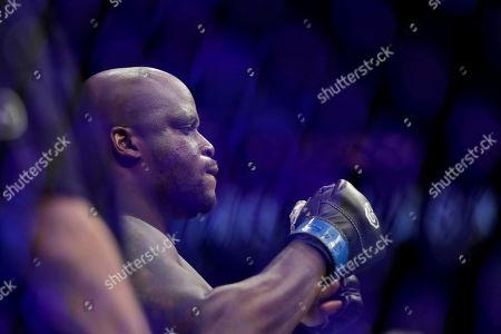 Derrick Lewis looks on before his heavyweight mixed martial arts bout against Daniel Cormier at UFC 230, early, at Madison Square Garden in New York