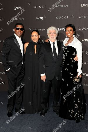 Kenneth 'Babyface' Edmonds, Nicole Pantenburg, George Lucas and Mellody Hobson arrive for the LACMA Art + Film Gala at the Los Angeles County Museum of Art in Los Angeles, California, USA, 03 November 2018.