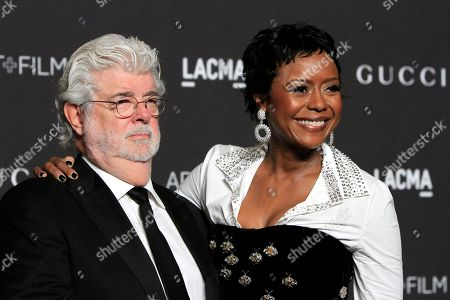 George Lucas and Mellody Hobson arrive for the LACMA Art + Film Gala at the Los Angeles County Museum of Art in Los Angeles, California, USA, 03 November 2018.