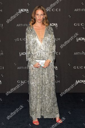 Petra Collins arrives for the LACMA Art and Film Gala at the Los Angeles County Museum of Art, in Los Angeles, California, USA, 03 November 2018.