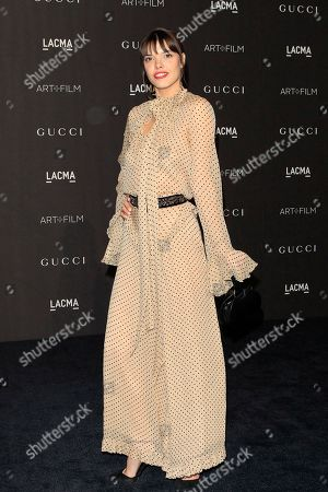 Eva Dolezalova arrives for the LACMA Art and Film Gala at the Los Angeles County Museum of Art, in Los Angeles, California, USA, 03 November 2018.