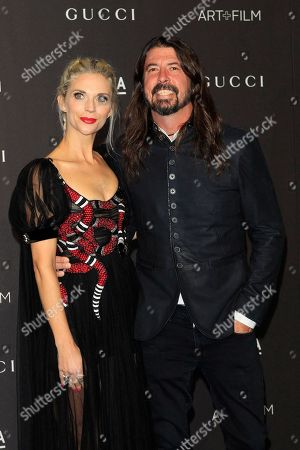 Stock Image of Jordyn Blum (L) and Dave Grohl arrive for the LACMA Art and Film Gala at the Los Angeles County Museum of Art, in Los Angeles, California, USA, 03 November 2018.