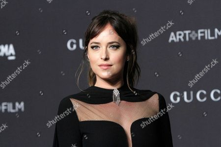 Dakota Johnson arrives for the LACMA Art and Film Gala at the Los Angeles County Museum of Art, in Los Angeles, California, USA, 03 November 2018.