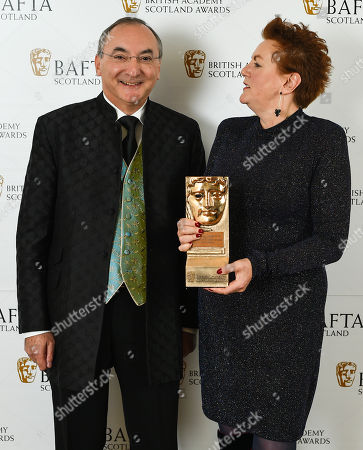 Stock Photo of Pat Campbell - Outstanding Contribution to Craft presented by Peter Kosminsky
