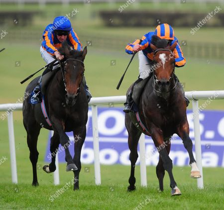 Naas TURNBERRY ISLE & Seamus Heffernan win the Irish Stallion Farms EBF Maiden from GENTILE BELLINI & Michael Hussey.