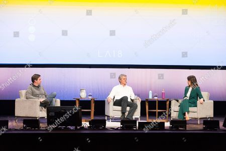 J. D. Vance, Steve Case. J. D. Vance, left, and Steve Case, center, seen on day two of Summit LA18 in Downtown Los Angeles, in Los Angeles