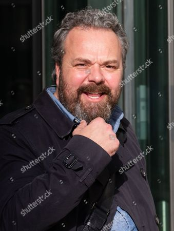 Comedian, Hal Cruttenden, leaves the BBC Studios.