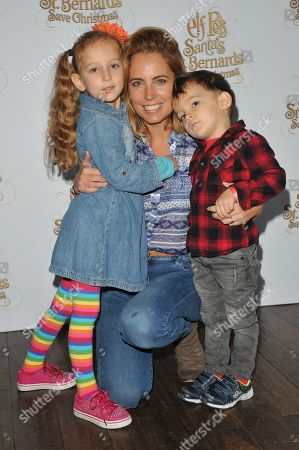 Jasmine Harman and her kids Joy Boast, Albion Peter Jenson