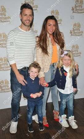 Hugh Hanley, Michelle Heaton and their kids Aaron Jay Hanley, Faith Hanley