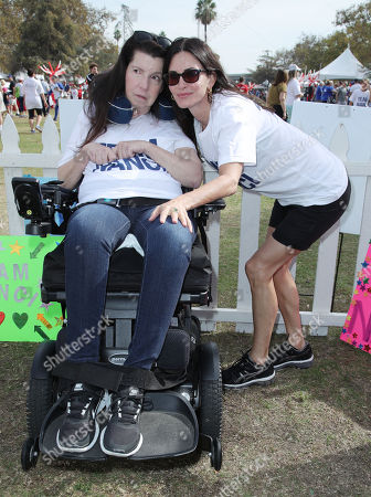 Stock Photo of Nanci Ryder and Courteney Cox