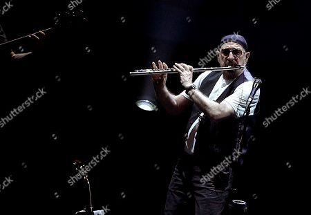 Ian Anderson of British rock band Jethro Tull performs during a concert in Pamplona, Navarra, Spain, 04 November 2018. British rock band Jethro Tull celebrates their 50 anniversary.