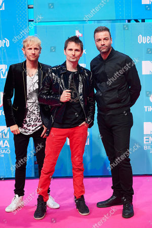 Stock Photo of Muse - Dominic Howard, Matt Bellamy and Christopher Wolstenholme