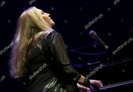 Stock Photo of Brazilian pianist Eliane Elias performs during a concert within the 39th Granada International Jazz Festival at the Isabel la Catolica theater in Granada, Andalusia, Spain, 04 November 2018.