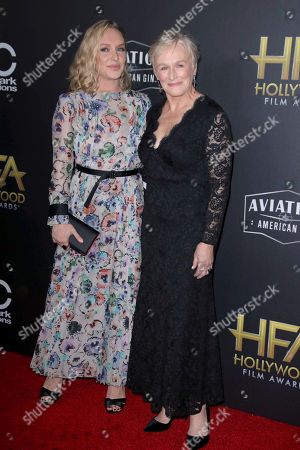 Stock Picture of Annie Stark and mother Glenn Close