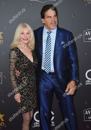 Stock Photo of Lou Ferrigno, Carla Ferrigno. Lou Ferrigno, right, and Carla Ferrigno arrive at the Hollywood Film Awards, at the Beverly Hilton Hotel in Beverly Hills, Calif
