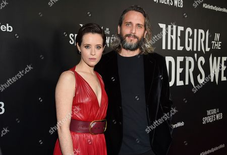 "Claire Foy, Fede Alvarez. Actor Claire Foy, left, and director Fede Alvarez attend a special screening of ""The Girl in the Spider's Web: A New Dragon Tattoo Story"" at the Henry Luce Auditorium, in New York"