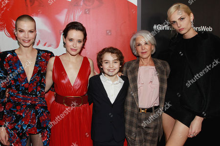 Sylvia Hooks, Claire Foy, Christopher Convery, Elizabeth Cantillon and Andreja Pejic