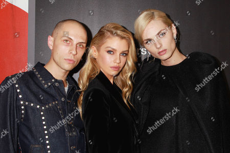 Luke Abby, Stella Maxwell and Andreja Pejic