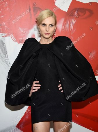 "Andreja Pejic attends a special screening of ""The Girl in the Spider's Web: A New Dragon Tattoo Story"" at the Henry Luce Auditorium, in New York"