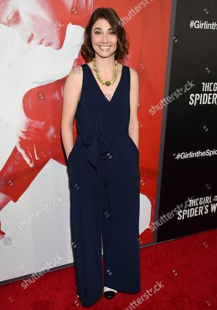 """Ashley Jordyn attends a special screening of """"The Girl in the Spider's Web: A New Dragon Tattoo Story"""" at the Henry Luce Auditorium, in New York"""