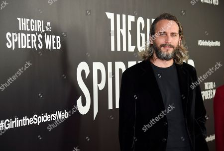 "Fede Alvarez attends a special screening of ""The Girl in the Spider's Web: A New Dragon Tattoo Story"" at the Henry Luce Auditorium, in New York"