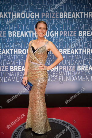 Anne Wojcicki arrives at the 7th annual Breakthrough Prize Ceremony at the NASA Ames Research Center on in Mountain View, Calif