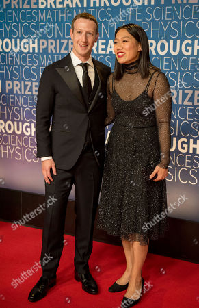 Mark Zuckerberg, Priscilla Chan. Mark Zuckerberg and Priscilla Chan arrive at the 7th annual Breakthrough Prize Ceremony at the NASA Ames Research Center on in Mountain View, Calif