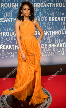 Stock Picture of Kara McCullough arrives at the 7th annual Breakthrough Prize Ceremony at the NASA Ames Research Center on in Mountain View, Calif