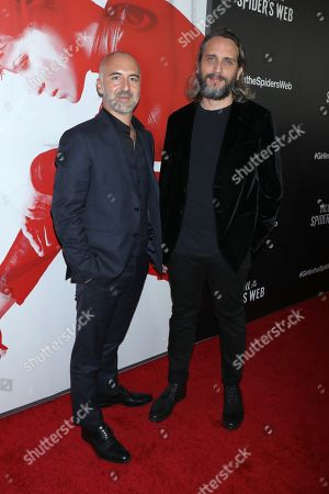 Stock Picture of Carlos Rosario, costume designer and Fede Alvarez, director