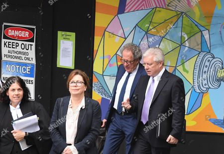 Australian actor Geoffrey Rush (2-R) arrives at the Federal Court in Sydney, Australia, 05 November 2018. Australian actor Geoffrey Rush is suing Nationwide News for defamation in relation to published articles alleging the actor acted inappropriately towards a female castmember during a production of the play King Lear.