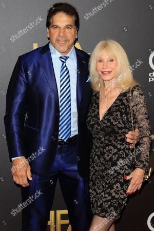 Lou Ferrigno (L) and his spouse actress Carla Ferrigno (R) arriving for the 22nd Annual Hollywood Film Awards at the Beverly Hilton Hotel in Beverly Hills, California, USA, 04 November 2018.