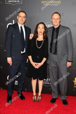Matt Manfredi, US film director Karyn Kusama and US screenwriter Phil Hay arriving for the 22nd Annual Hollywood Film Awards at the Beverly Hilton Hotel in Beverly Hills, California, USA, 04 November 2018.