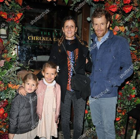 Justine Dobbs-Higginson and Tom Aikens and kids