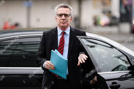 Former German Interior Minister Thomas de Maiziere arrives for a conclave meeting of the federal board of the Christian Democratic Union (CDU), in Berlin, Germany, 05 November 2018. The CDU discusses the future action plan of the party after Angela Merkel announced that she would not run for re-election as chairwoman in the next CDU party conference in December.