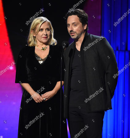 Stock Image of Sergey Brin, Lucy Hawking