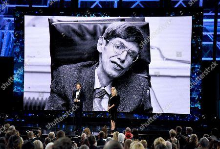 Stock Picture of Eddie Redmayne, Lucy Hawking, Yuri Milner