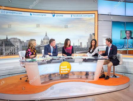 Charlotte Hawkins, Piers Morgan, Susanna Reid, Sarah-Jane Crawford and Philip Collins