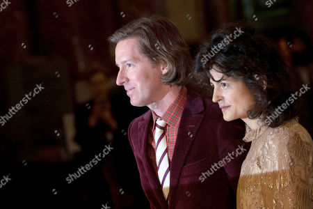 US director Wes Anderson (L) poses for photographs with his partner Juman Malouf (R) during the opening of the exhibition 'Spitzmaus Mummy in a Coffin and Other Treasures from the Kunsthistorisches Museum - Wes Anderson and Juman Malouf' at the Museum of Fine Arts (KHM) in Vienna, Austria, 05 November 2018. The Kunsthistorische Museum invited US filmmaker Wes Anderson and his partner Juman Malouf to curate the exhibition. The exhibition runs from 06 November 2018 until 29 April 2019.