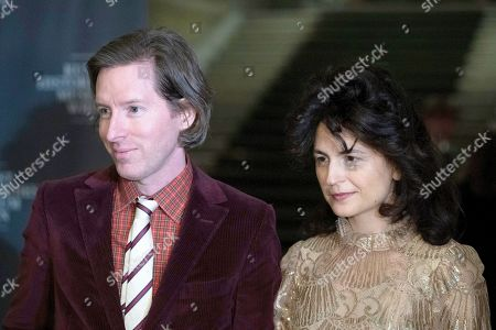 US director Wes Anderson (L) pose for photographs with his partner Juman Malouf (R) during the opening of the exhibition 'Spitzmaus Mummy in a Coffin and Other Treasures from the Kunsthistorisches Museum - Wes Anderson and Juman Malouf' at the Museum of Fine Arts (KHM) in Vienna, Austria, 05 November 2018. The Kunsthistorische Museum invited US filmmaker Wes Anderson and his partner Juman Malouf to curate the exhibition. The exhibition runs from 06 November 2018 until 29 April 2019.