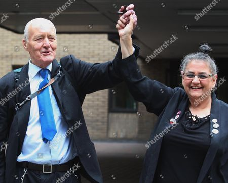 Stock Image of Tony Benn and Carole Vincent