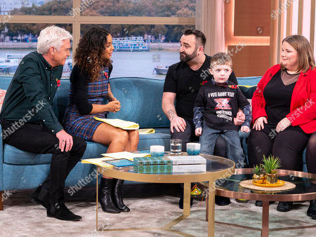 Rochelle Humes and Phillip Schofield with Danny Tetley and X Factor Fans with a cleft palate
