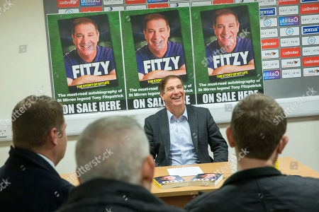 Editorial image of Tony Fitzpatrick Book Launch, St Mirren Park, Paisley, Glasgow, Scotland, UK - 05 Nov 2018