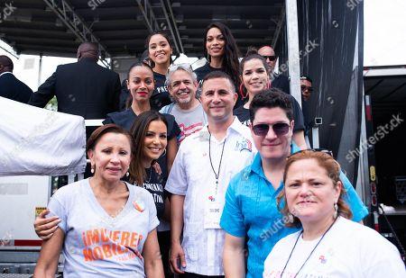 Stock Photo of Eva Longoria, Gina Rodriguez, Rosario Dawson, Zoe Saldana, America Ferrera, Frankie Negron
