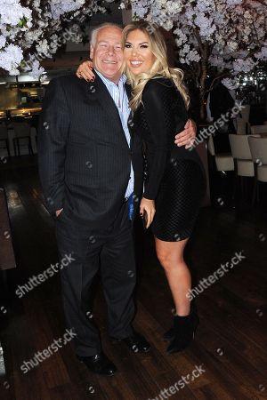 Owner of Kiru Restaurant Rory McCarthy and Frankie Essex