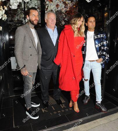 Owner of Kiru Restaurant Rory McCarthy, Peter Wicks, Chloe Sims and Liam Gatsby