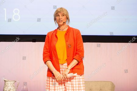 Stock Image of Mary Sue Milliken seen on day three of Summit LA18 in Downtown Los Angeles, in Los Angeles